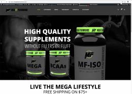 Nutrition Suplement E-Commerce Website